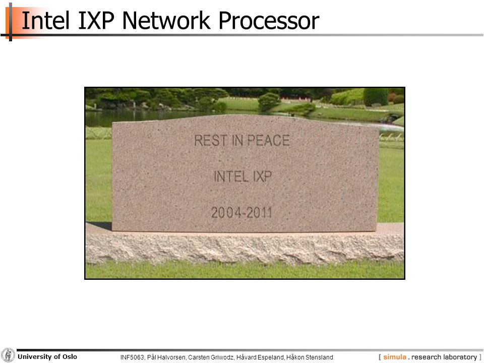 INF5063, Pål Halvorsen, Carsten Griwodz, Håvard Espeland, Håkon Stensland University of Oslo Overview  Course topic and scope  Background for the use and parallel processing using heterogeneous multi-core processors  Examples of heterogeneous architectures