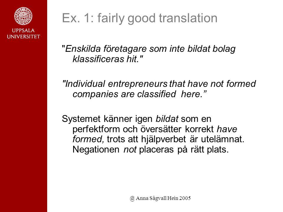 @ Anna Sågvall Hein 2005 Ex.