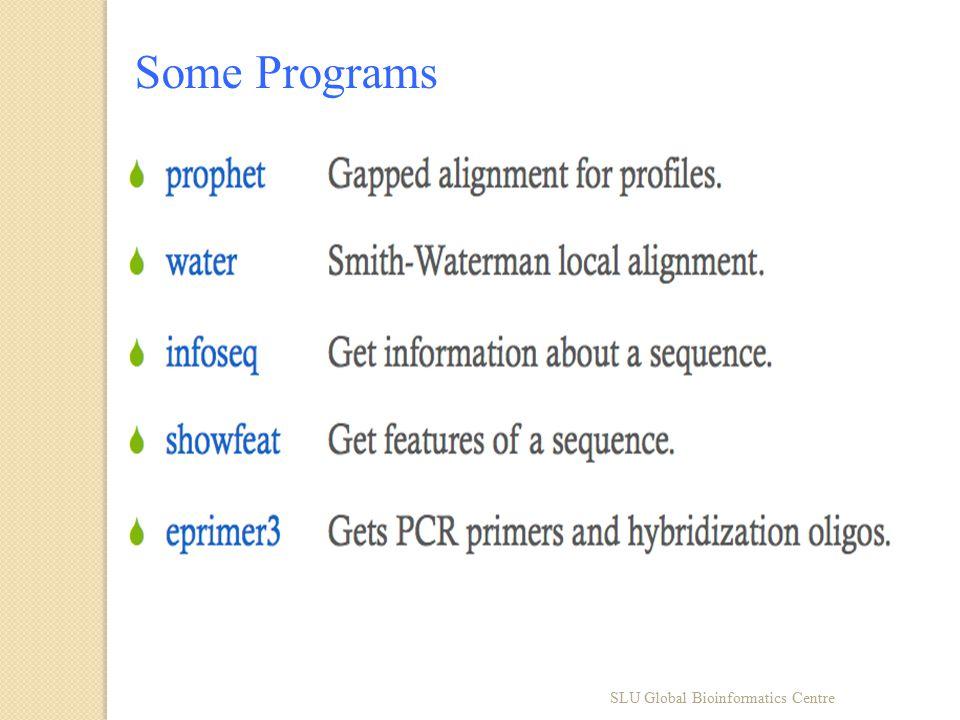 Some Programs