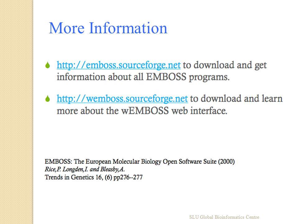 SLU Global Bioinformatics Centre More Information