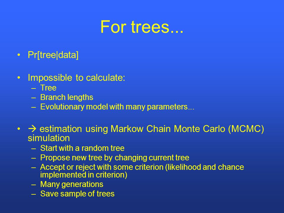For trees...