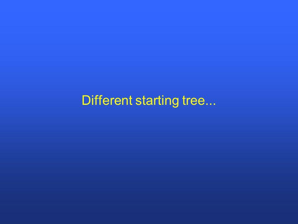 Different starting tree...