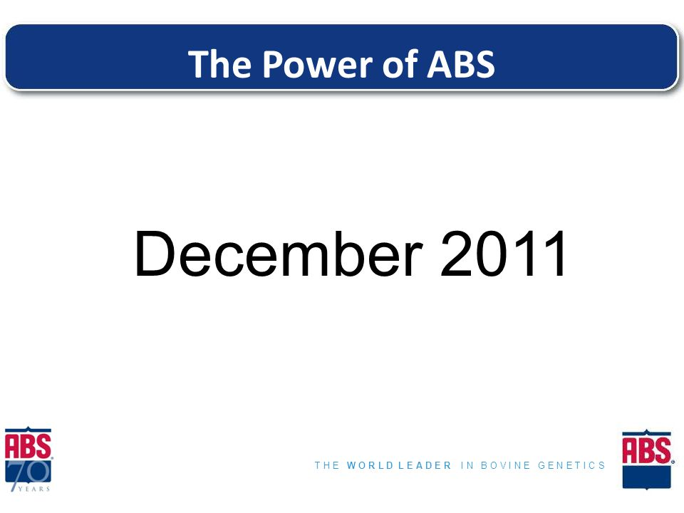 The Power of ABS December 2011