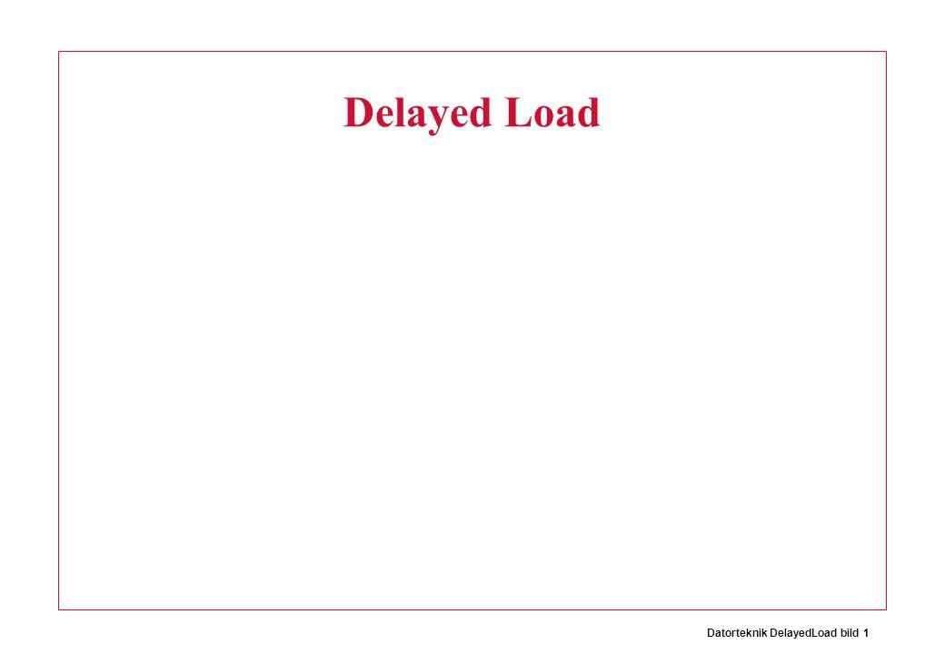 Datorteknik DelayedLoad bild 12 Branch logic Sgn/Ze extend Zero ext. ALU A B 31 0 4 + + = = = =