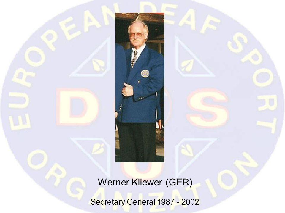 Werner Kliewer (GER) Secretary General 1987 - 2002