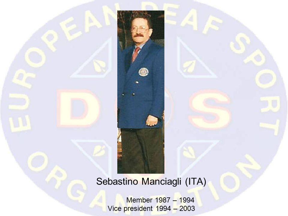 Sebastino Manciagli (ITA) Member 1987 – 1994 Vice president 1994 – 2003