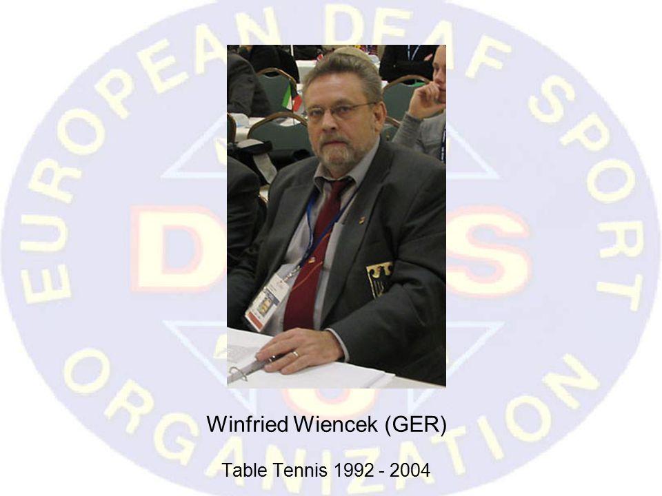 Winfried Wiencek (GER) Table Tennis 1992 - 2004
