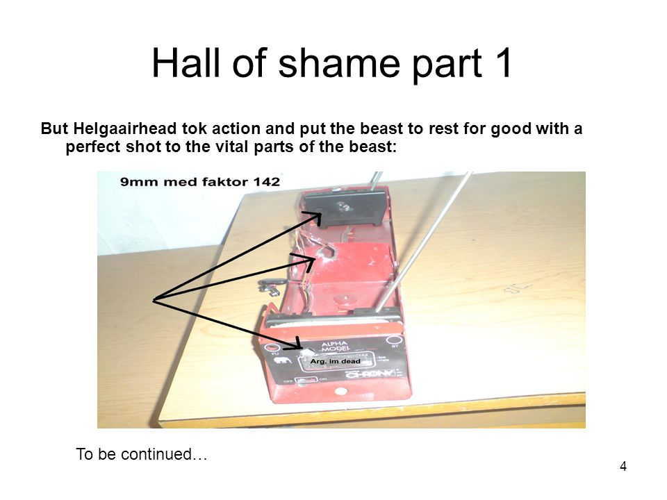 4 Hall of shame part 1 But Helgaairhead tok action and put the beast to rest for good with a perfect shot to the vital parts of the beast: To be continued…