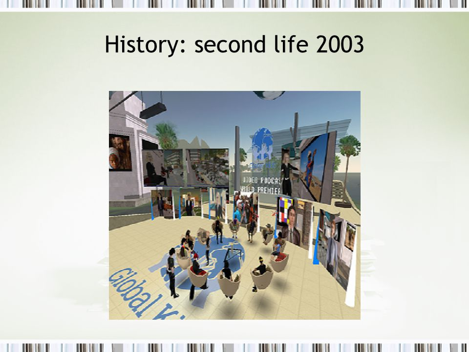History: second life 2003