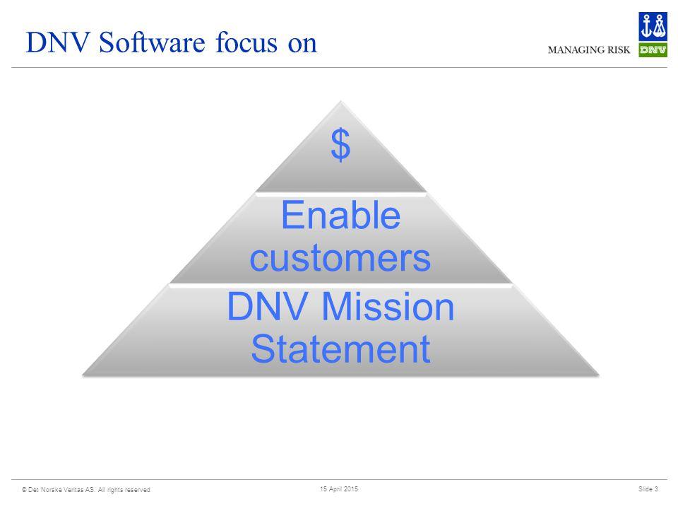 DNV Software focus on © Det Norske Veritas AS.