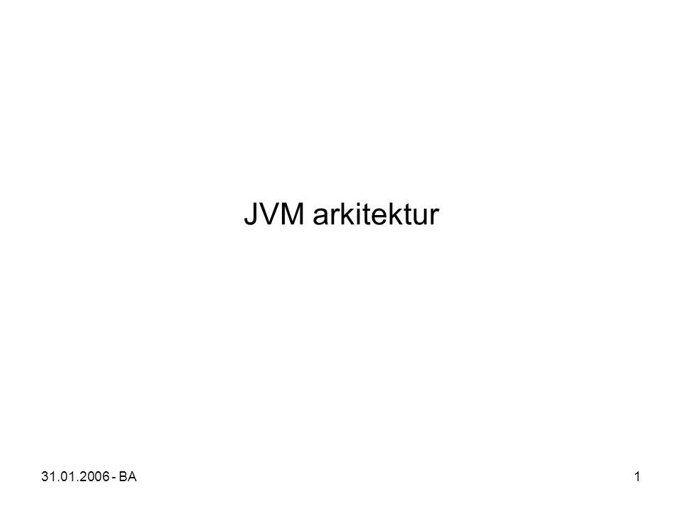 31.01.2006 - BA1 JVM arkitektur