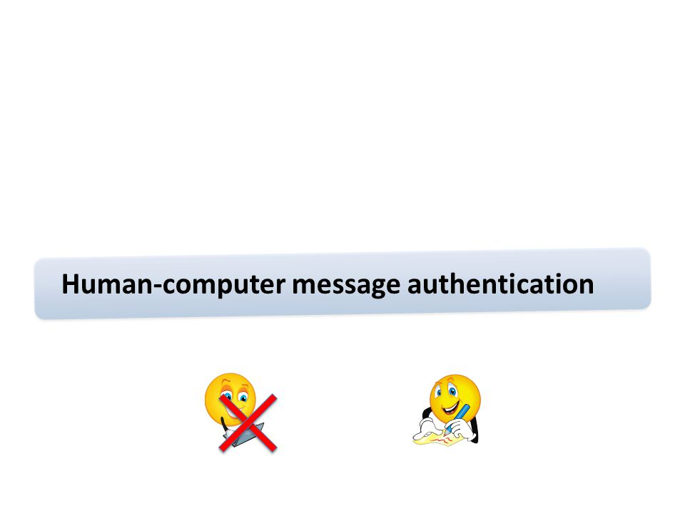 Human-computer message authentication