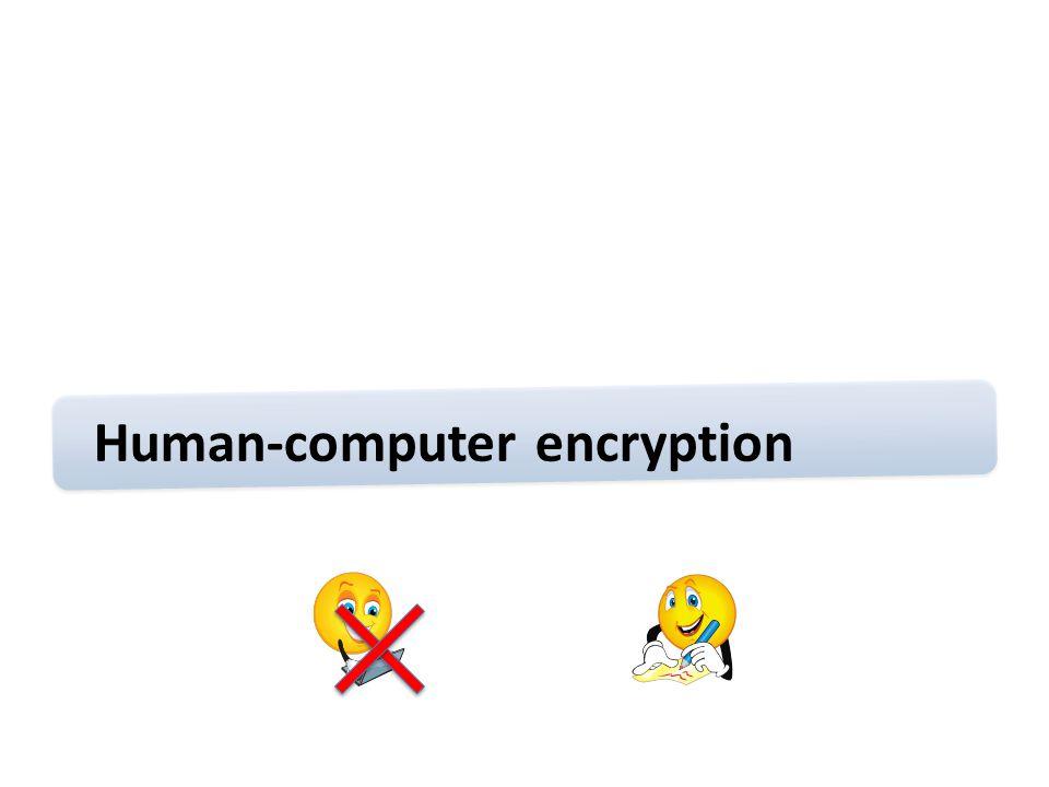 Human-computer encryption