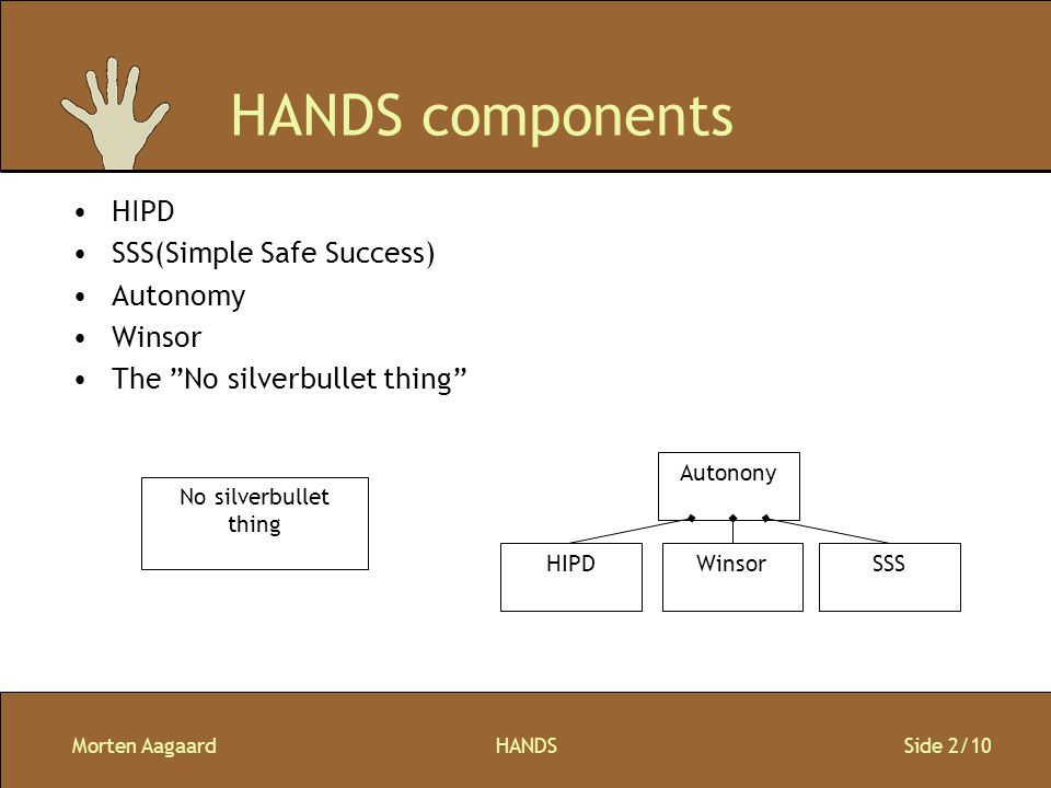 Morten AagaardHANDS Side 3/10 Two levels of developers 1.The generic components: Wirtek and .