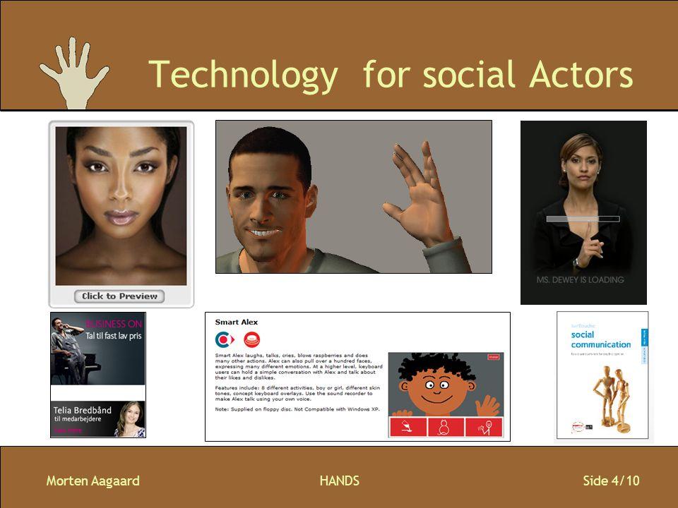 Morten AagaardHANDS Side 4/10 Technology for social Actors