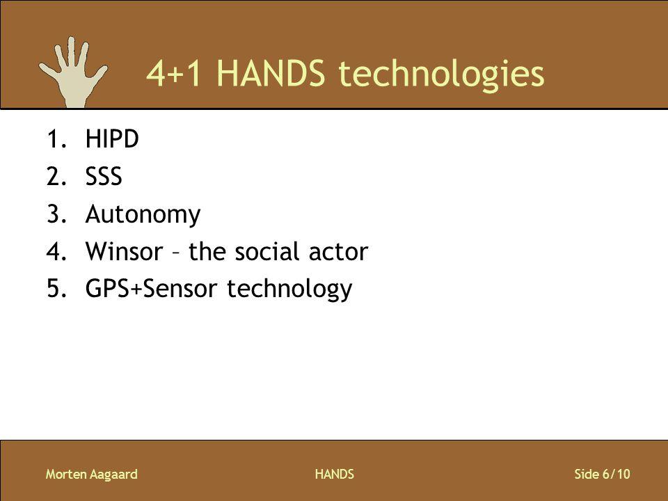 Morten AagaardHANDS Side 7/10 HW - Platform Mainstream product Let tilgængeligt med mulighed for, at andre udvikle HANDS sw Gerne stor skærm