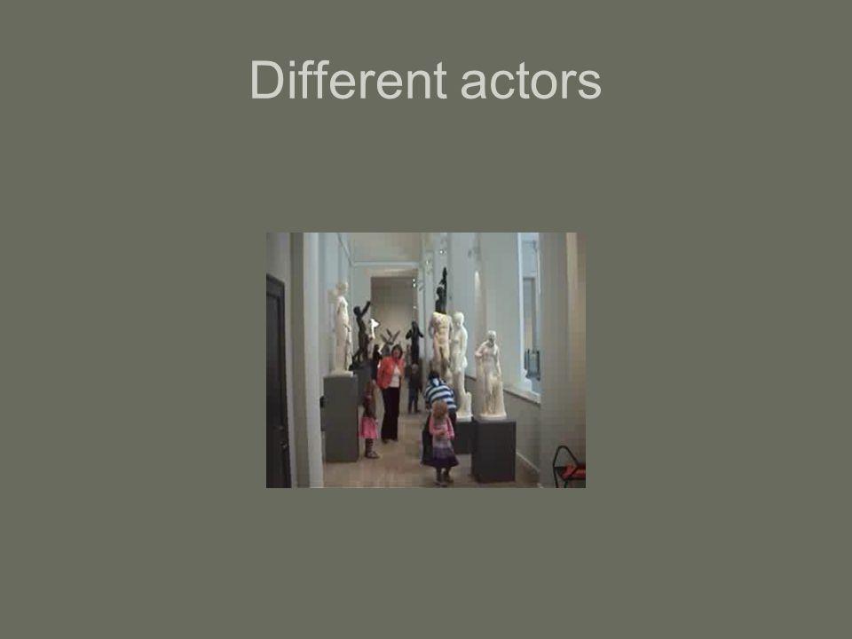 Different actors