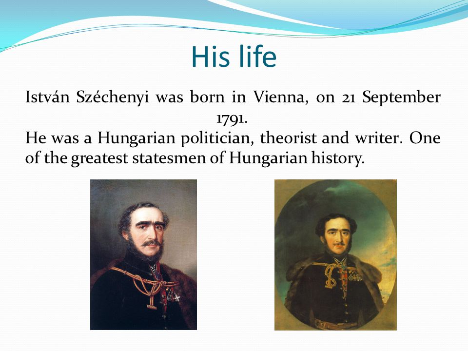 His family István Széchenyi's father was Ferenc Széchényi, a nobleman, who founded the Hungarian National Museum.
