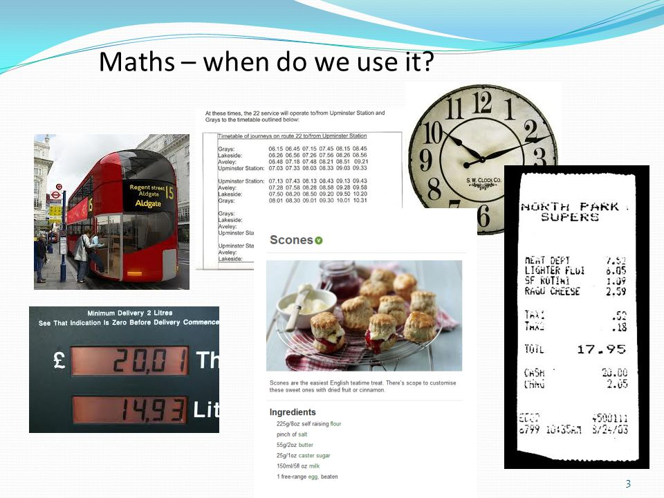 3 Maths – when do we use it?