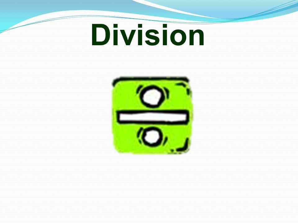 5 Division vocabulary o share o share equally o divide o divided by o groups o halve o half