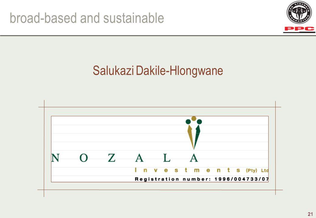 broad-based and sustainable 21 Salukazi Dakile-Hlongwane
