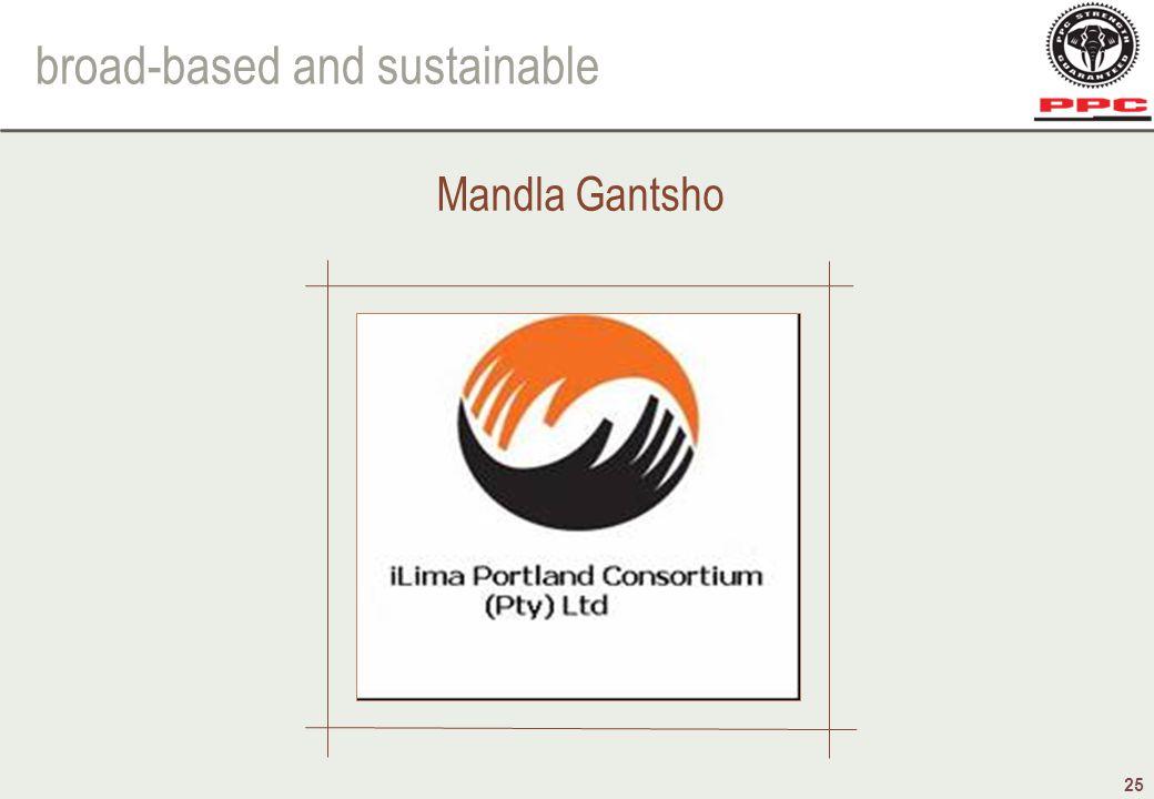 broad-based and sustainable 25 Mandla Gantsho