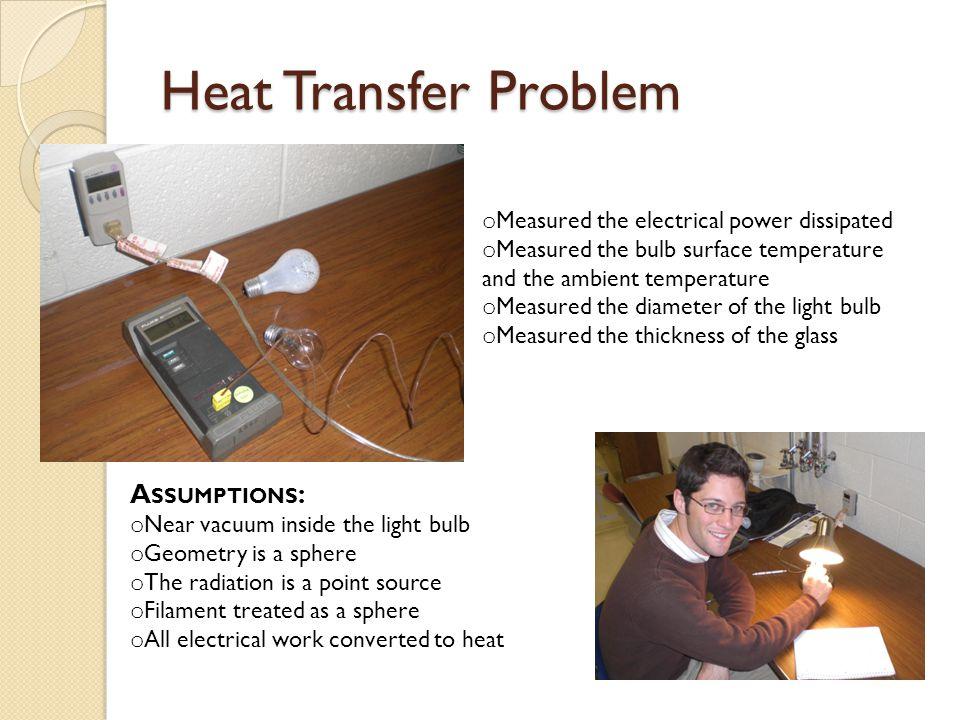 Solution Online sources show: T = 2550 ºC T s = 95 ºC T filament = .
