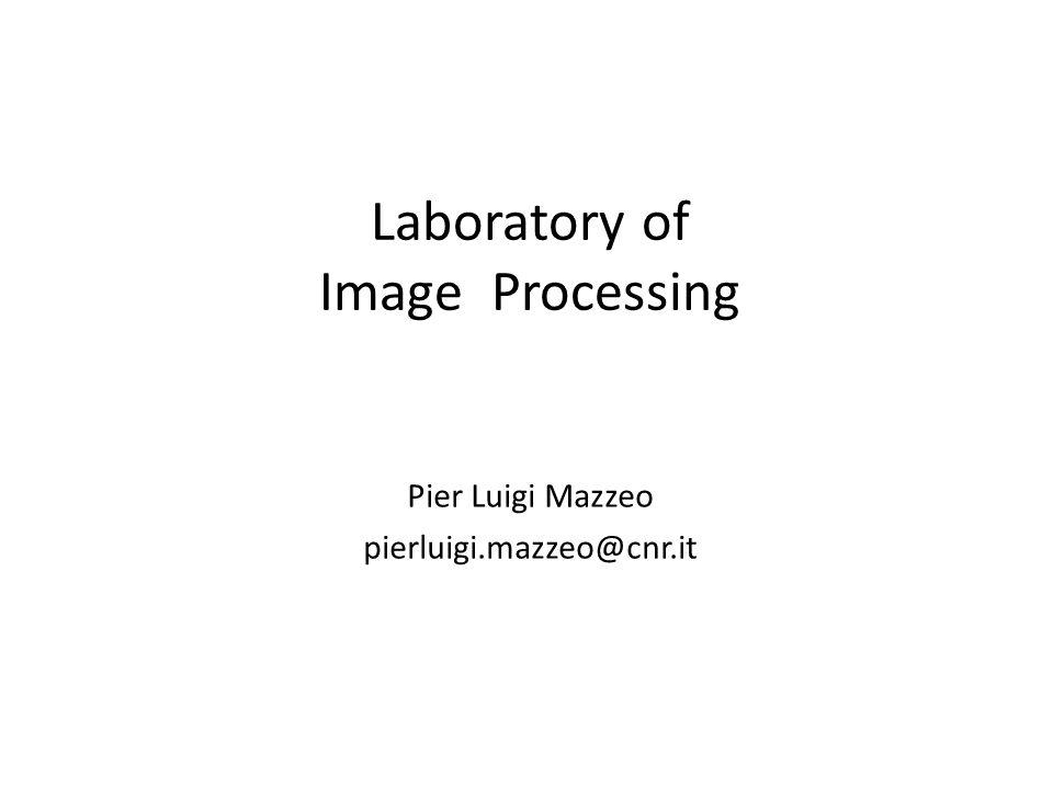 Laboratory of Image Processing Pier Luigi Mazzeo pierluigi.mazzeo@cnr.it