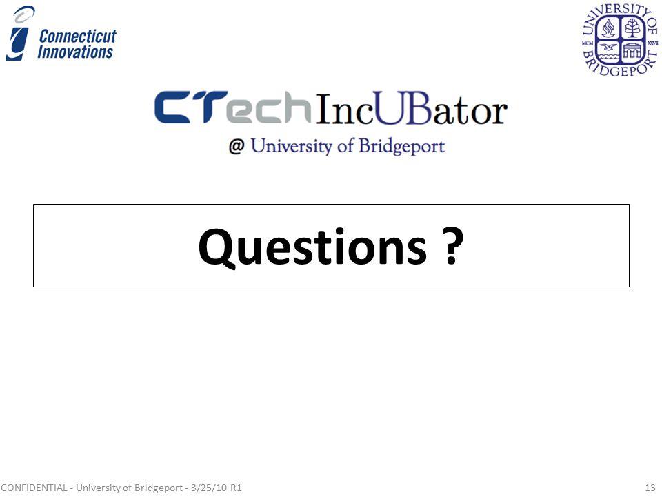 CONFIDENTIAL - University of Bridgeport - 3/25/10 R113 Questions ?