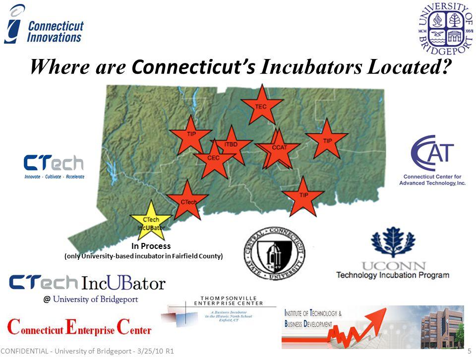 Where are Connecticut's Incubators Located.