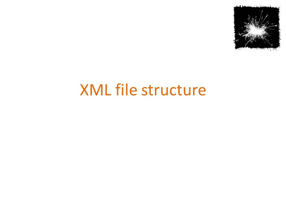 XML file structure