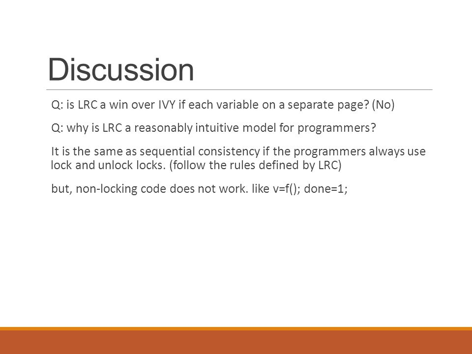 Discussion Q: is LRC a win over IVY if each variable on a separate page.