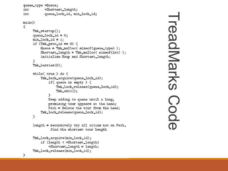 TreadMarks Code