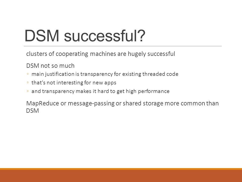 DSM successful.