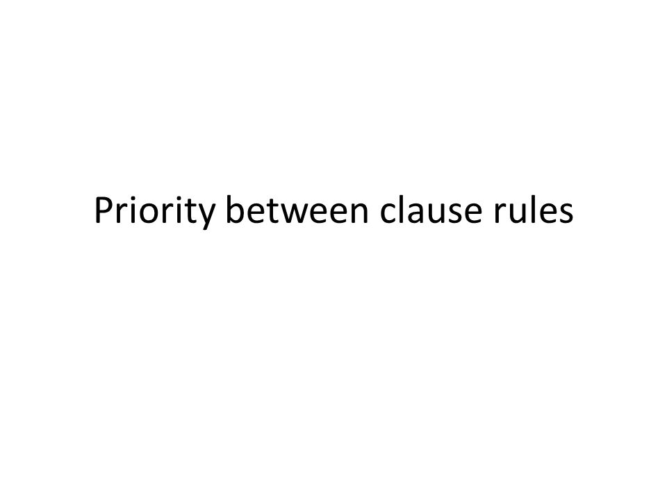 Priority between clause rules