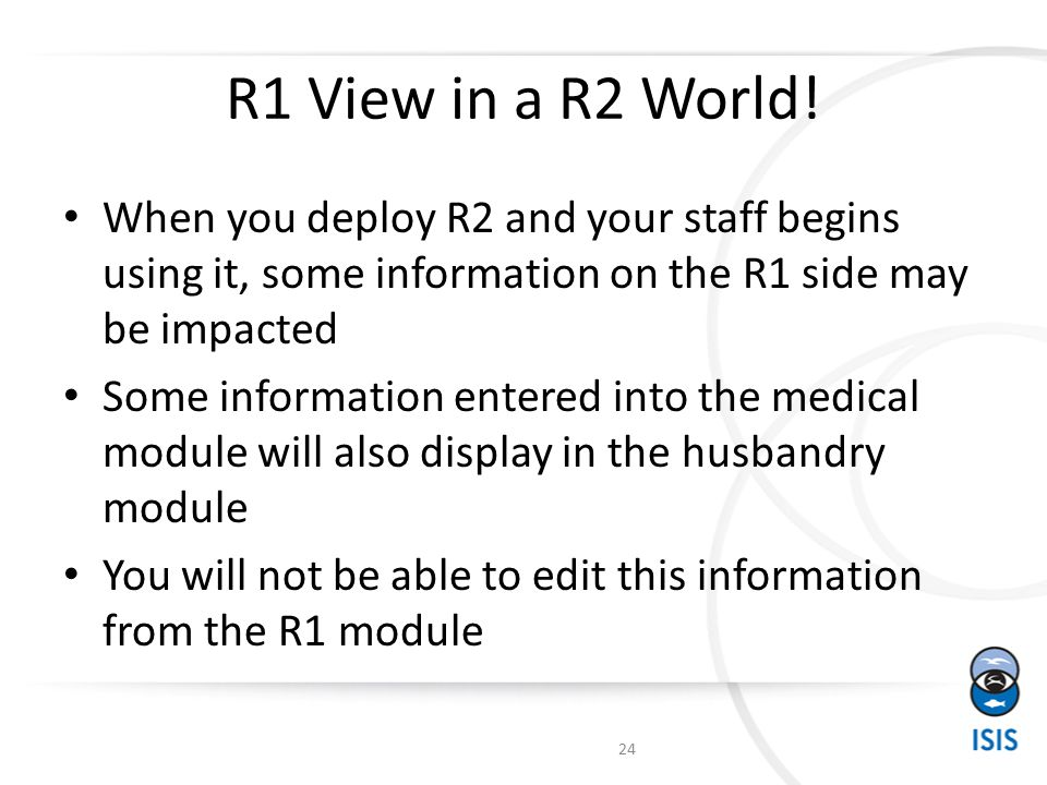 R1 View in a R2 World.