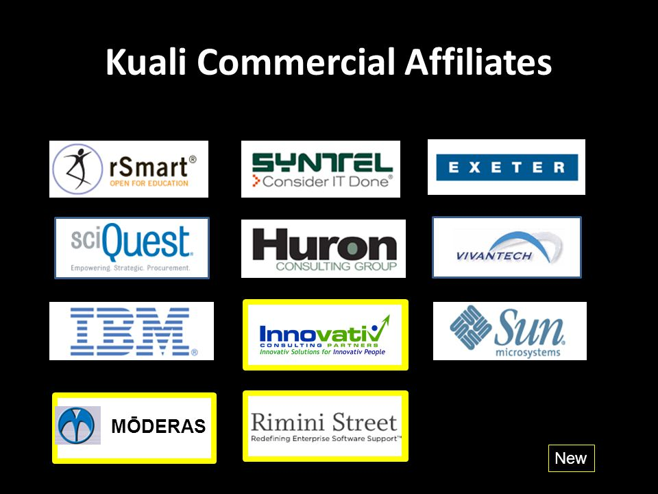 Kuali Commercial Affiliates New MŌDERAS
