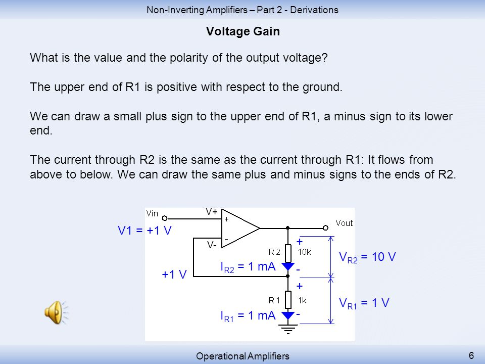 The current of 1 mA will create a voltage drop across the resistor R2.