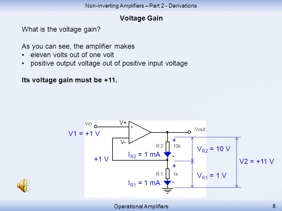 The output voltage consists of the sum of two individual resistor voltage drops.