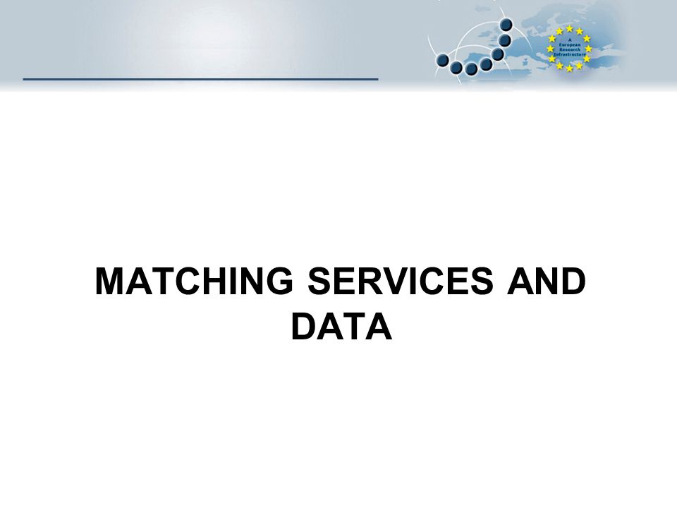 MATCHING SERVICES AND DATA