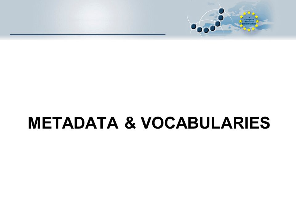 METADATA & VOCABULARIES
