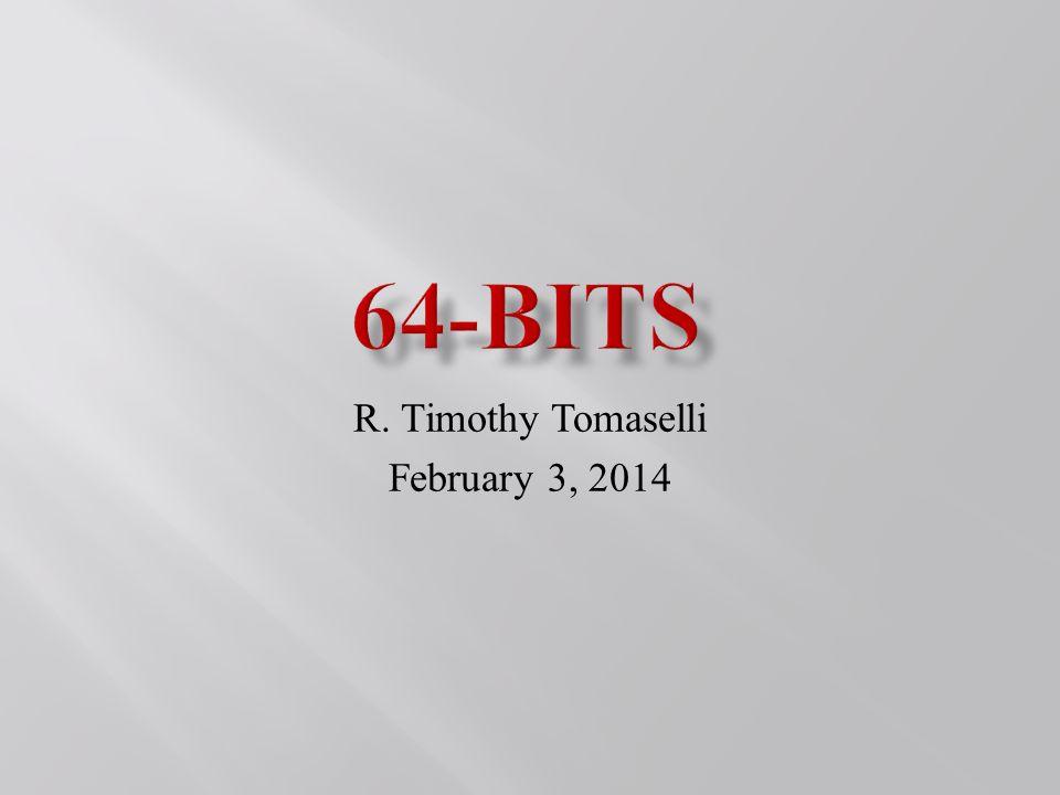 R. Timothy Tomaselli February 3, 2014