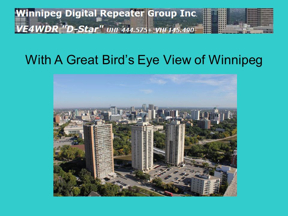 With A Great Bird's Eye View of Winnipeg