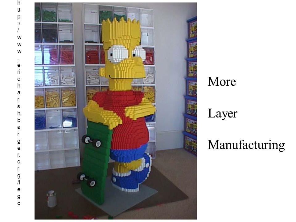 h tt p :/ / w w w. e ri c h a r s h b a r g e r. o r g /l e g o More Layer Manufacturing