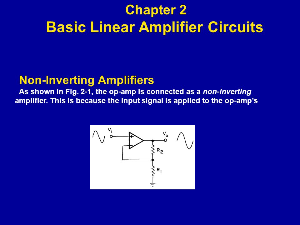 Non-lnverting Amplifiers On the other hand, the output impedance of the circuit of Fig.