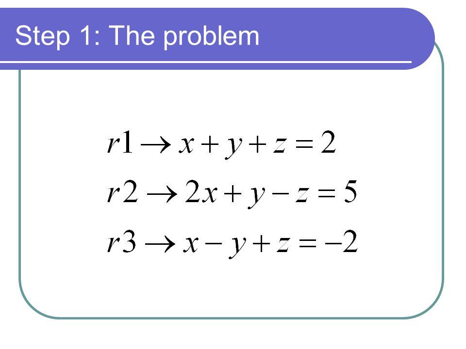 Step 1: The problem