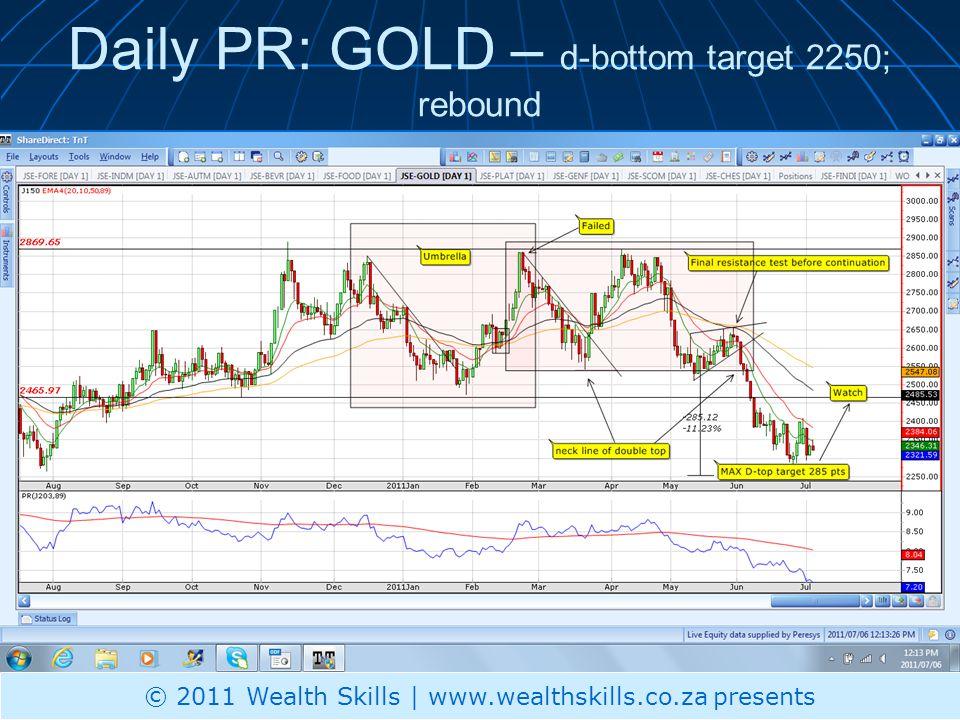 Daily PR: CHES – break higher- illiquid © 2011 Wealth Skills | www.wealthskills.co.za presents