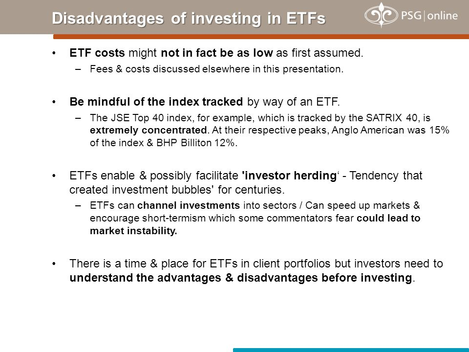 ETF costs might not in fact be as low as first assumed.
