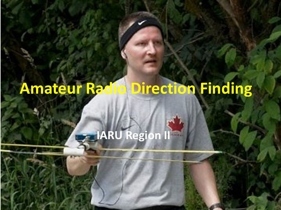 IARU Region II Amateur Radio Direction Finding