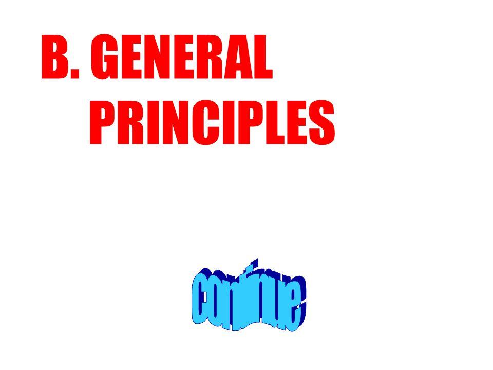 B. GENERAL PRINCIPLES